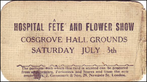 Hospital Fete and Flower Show at Cosgrove Hall